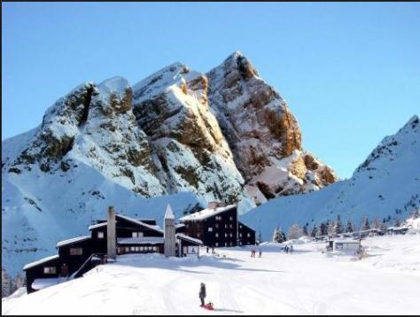 sciare con i bambini falcade san pellegrino casa ciotoli appartamento direttamente sulle piste
