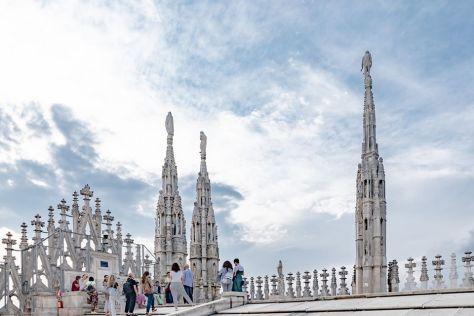 weekend a milano con i bambini visita al tetto del Duomo