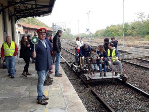 museo ferroviario piemontese - carrello a pedali