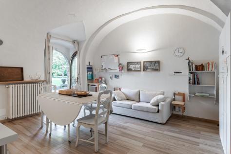Soggiorno cucina bnb Casa di Scorta Bergamo