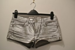 Topshop silver denim shorts
