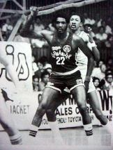 Harris (front) while playing professionally in the Philippines.