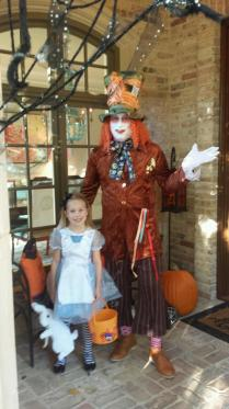 Former VCU golfer and current PGA pro John Rollins went all-out for this Alice in Wonderland getup.