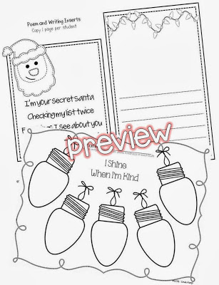 Secret Santa of Kind Words & Five for Friday Freebies
