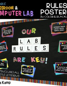 Computer lab management system editable rules posters also spruce up your with chalkboard decor around the kampfire rh aroundthekampfire