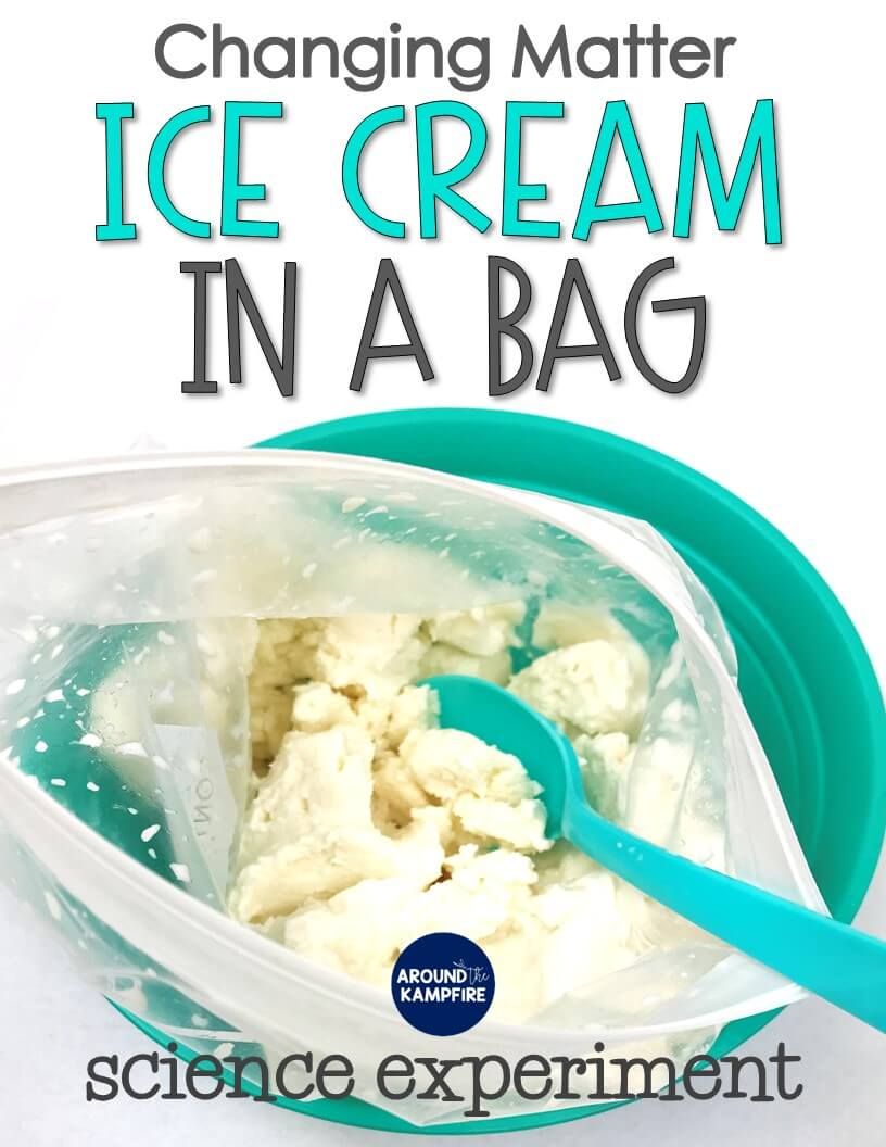 hight resolution of Ice Cream in a Bag: Changing Matter Experiment for Second Grade - Around  the Kampfire