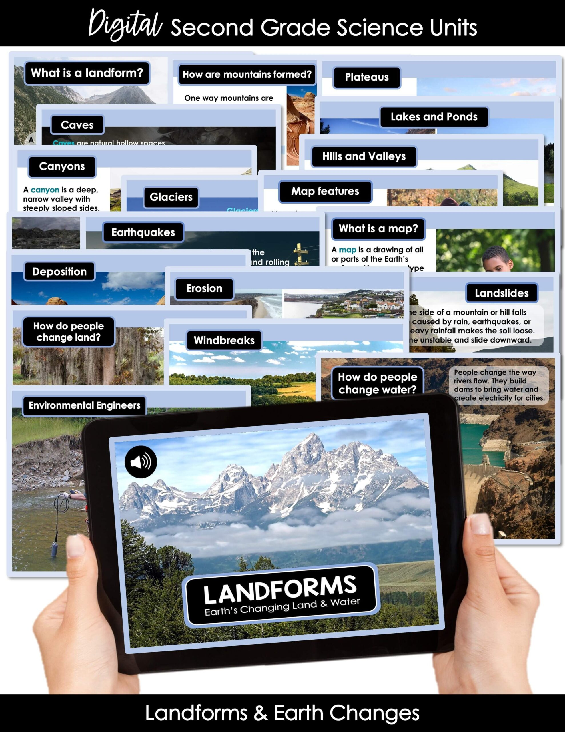 Digital Science Lessons For 2nd Grade Landforms Earth