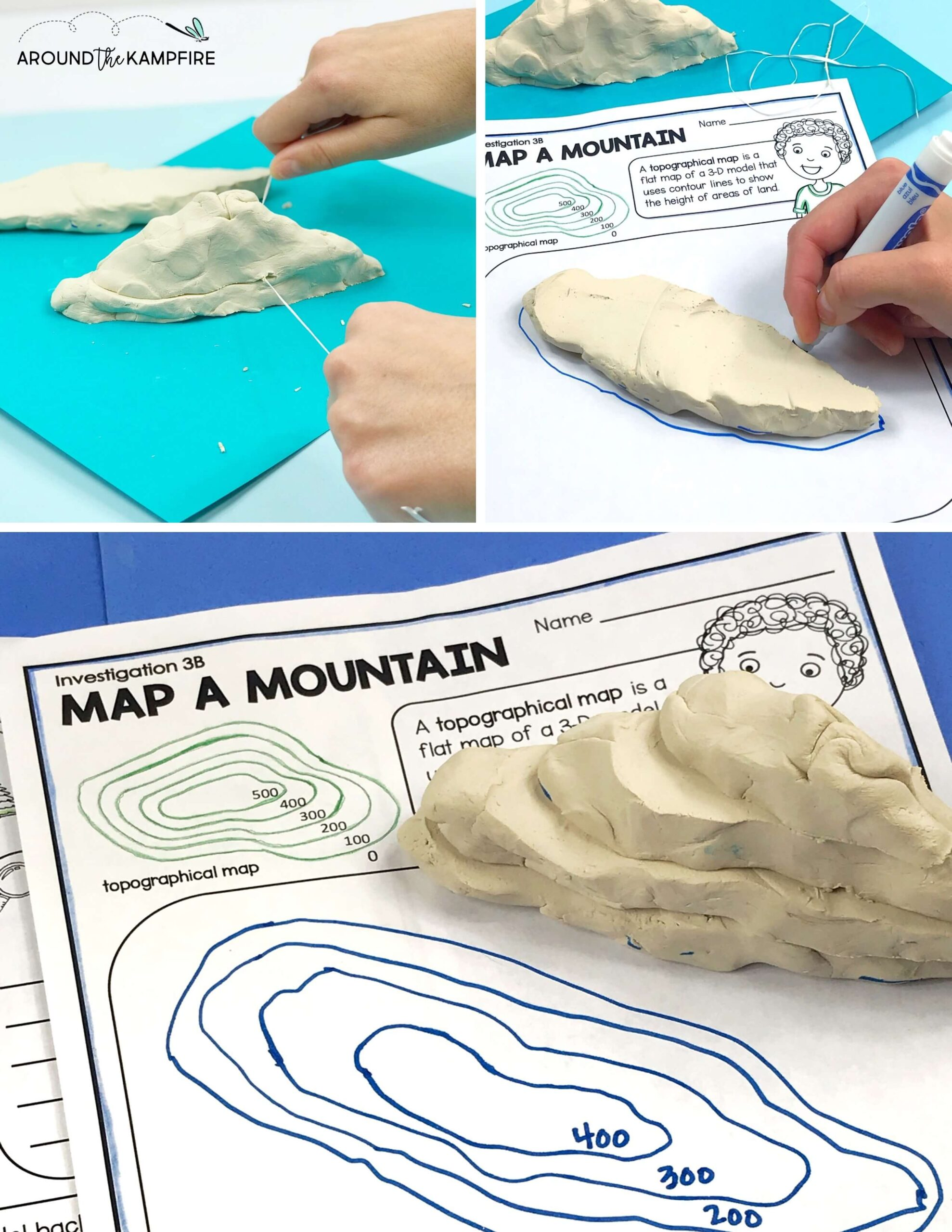 Making Topographical Map With Clay Landforms Activities