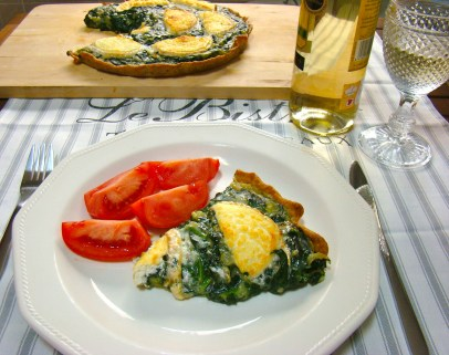 Spinach and Goat Cheese Whole-Wheat Quiche