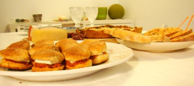 Scones with Sobrasada and Brie Cheese