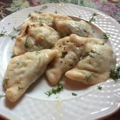 Spinach Pierogi (dumplings)