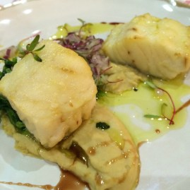 Cod with Chickpeas Puree
