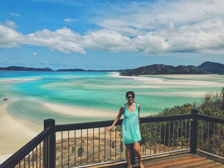 Image depicts the view from Tongue Point of Hill Inlet on Whitsunday Island.