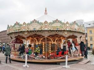 Carousel at the Christmas Market, Senate Square, Helsinki