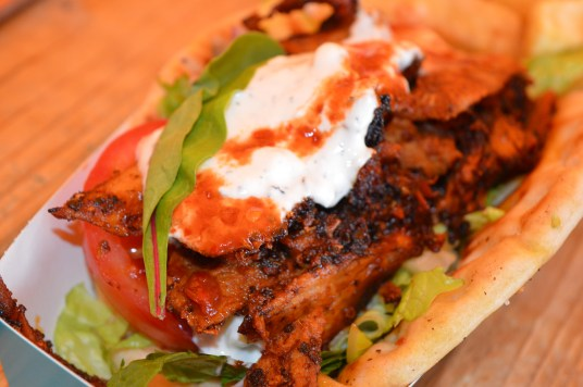 Spit Roast Gyros Kebab is served at Dollakis in the Park at Castle Archdale Country Park