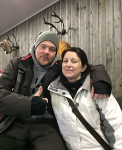 Mikko and Lynne at the Ice Hotel in Rovaiemi, Finland