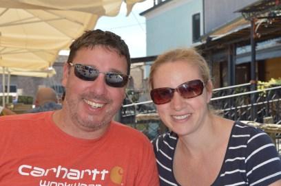 Daymian and Karen at Comacchio, Italy