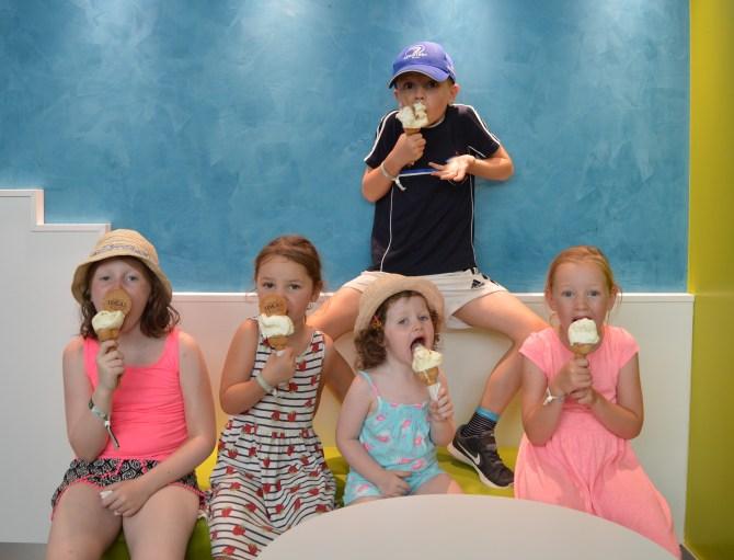 Enjoying ice cream in Comacchio, Italy