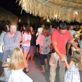The Jaksic Family enjoying the Mini Disco at Spiaggia e Mare Holiday Park, Italy