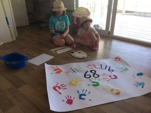 Hand painting at Kids Club at Spiaggia e Mare Holiday Park, Italy