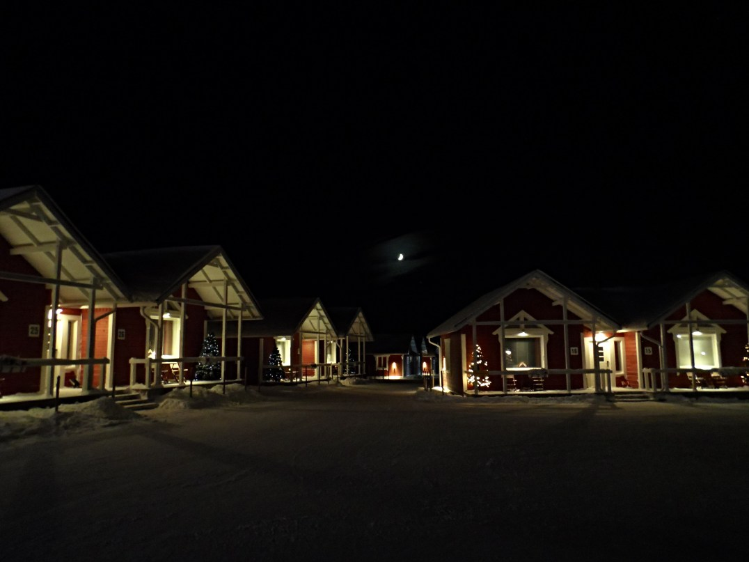 Chalets at the Santa Claus Holiday Village in Rovaniemi, Finland