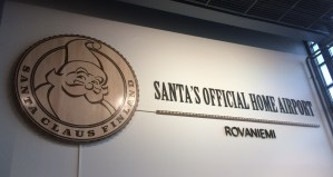 Santa's Official Home Airport in Rovaniemi, Finland