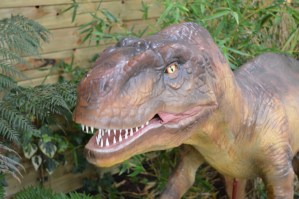Dinosaur aimatronics at Tropical World in Letterkenny, Ireland