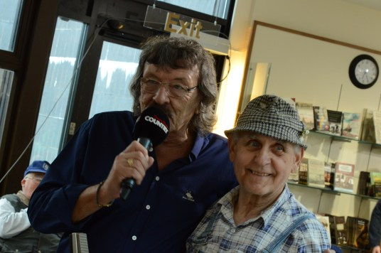 Big T and Geordie McAdam at the 26th Annual Bluegrass Festival held at the Ulster American Folk Park, Omagh