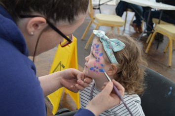 Facepainting at Festival Lough Erne