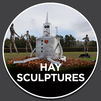 Halloween Hay Sculpture Trail