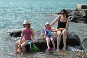 Enjoying the cool water of Lake Brienz in Switzerland