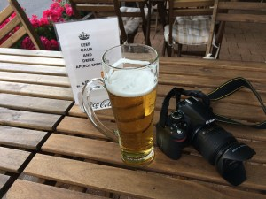 Ice cold beer at Camping Aaregg in Switzerland