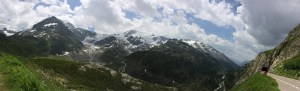 Scenic view from the Susten Pass in the Swiss Alps