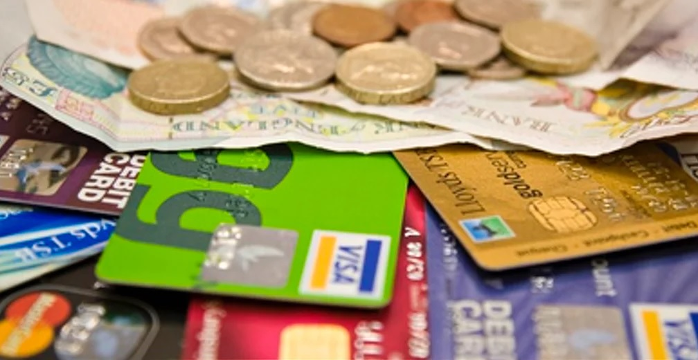 Cash and cards for holiday