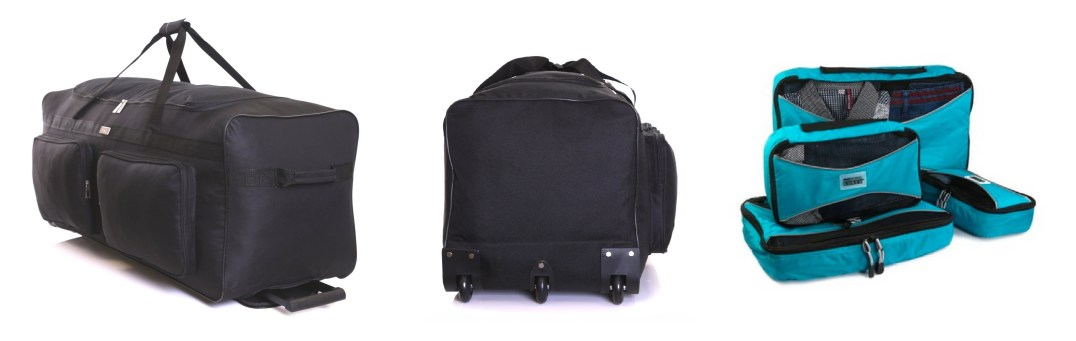 Karabar Holdalls used with Pro Packing Cubes