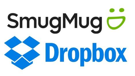 SmugMug and Dropbox logos