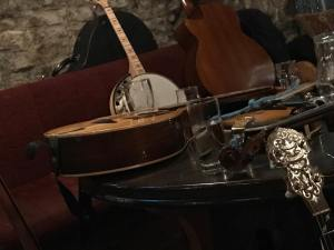 Instruments finely tuned for TRAD night at Smugglers Creek Inn