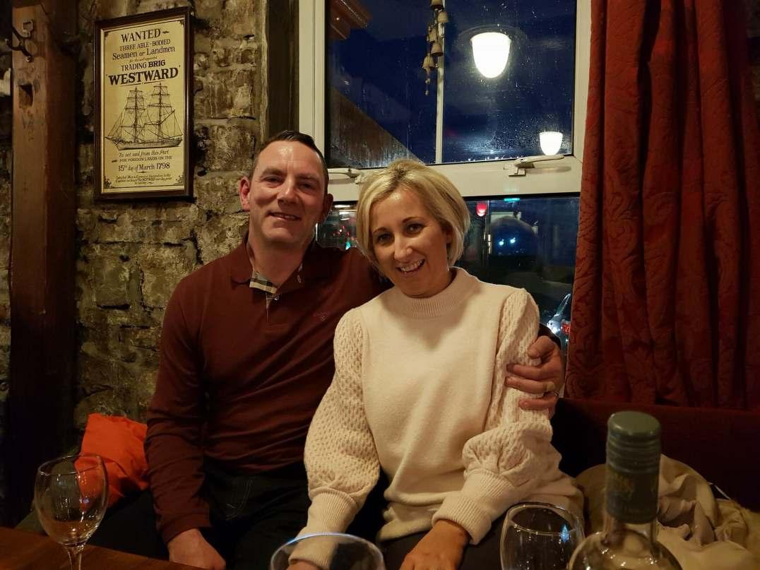 Michael and Emily enjoying the craic at Smugglers Creek Inn