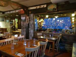 A view of Smugglers Creek Inn bar from the conservatory