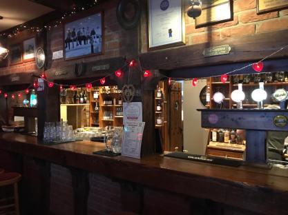 Bar area at Smugglers Creek Inn
