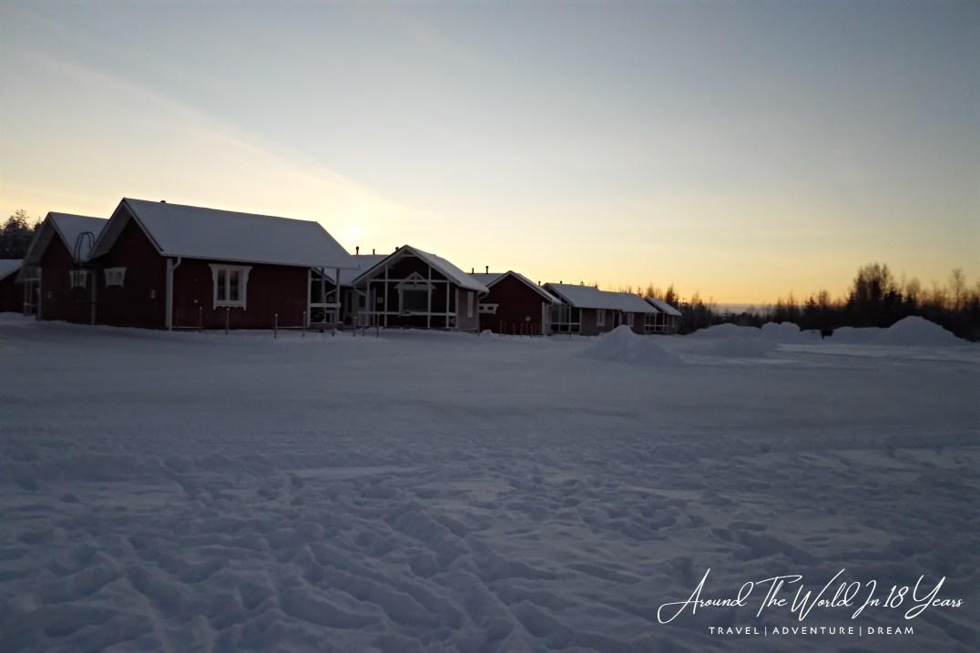 Santa Claus Holiday Village - Deep snow
