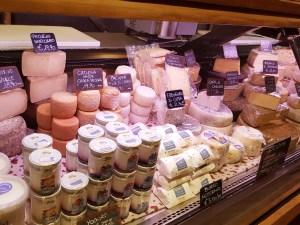 A selection of cheeses at Tito il Maso dello Speck