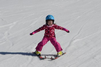 Matilda skiing at Alpe Cermis