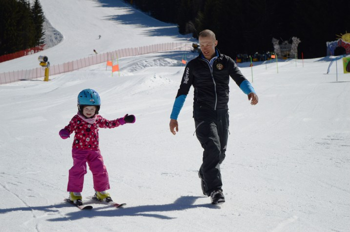 Ski lessons at Ape Cermis, Cavalese