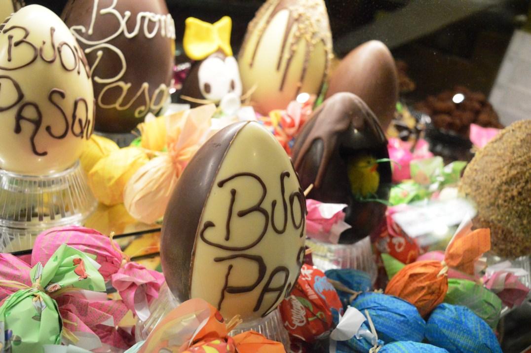 Easter eggs at Gelateria Tre Valli Di Franco Simonazzi