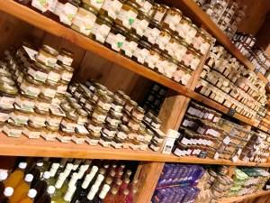 A selection of preserves at Tito il Maso dello Speck