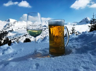 Refreshments at the top of Alpe Cermis
