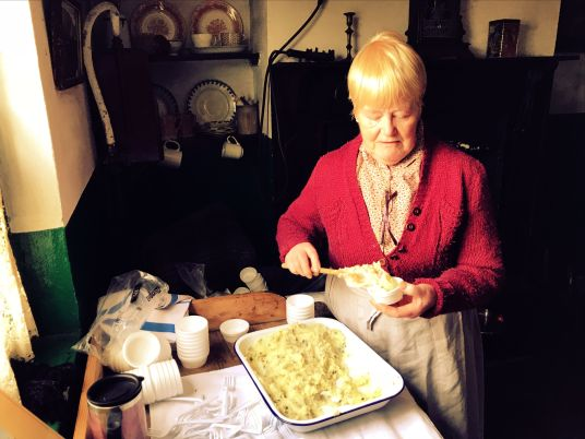 Dishing out traditional Irish champ at Ulster Folk and Transport Museum