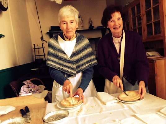 Dishing out home-baked apple pie at Ulster Folk and Transport Museum