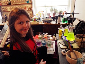 Potion making at Scientific Sue's science lab at the Ulster Folk & Transport Museum